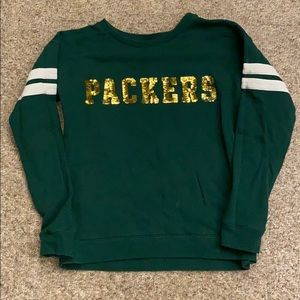 Victoria's Secret Green Bay Packers Sweatshirt Med
